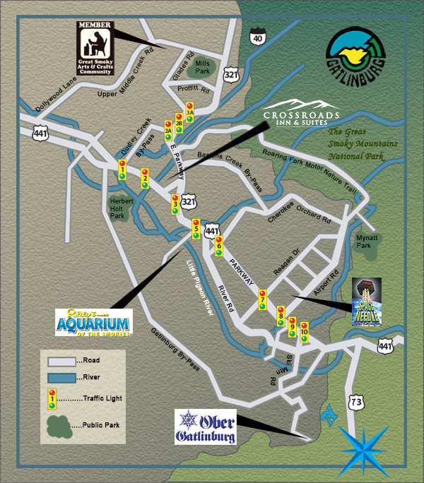 Use The Simple Locator Map Below To Find Our Gatlinburg Parkway Hotel Or Get Google Directions Address Located At 440 Tn